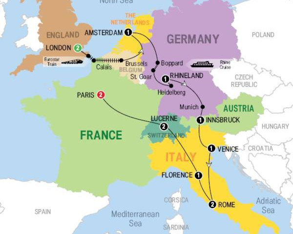 Driving Tour Of Western Europe