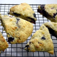 Blueberry White Chocolate Scones