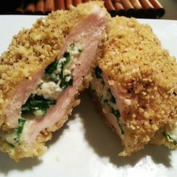 Ricotta, Basil & Spinach Stuffed Chicken