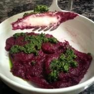 Beet Ravioli with Ricotta & Goat Cheese Filling