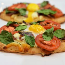 Breakfast Pizza on Naan