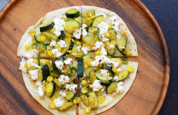 Zucchini & Corn Flatbread